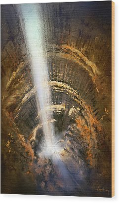 Wood Print featuring the painting The Cavern by Andrew King