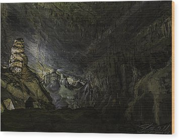 The Cavern Wood Print