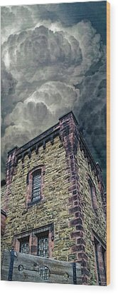 Wood Print featuring the photograph The Cell Block Restaurant by Greg Reed