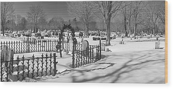 The Cemetery Wood Print
