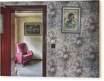 Wood Print featuring the photograph The Chair Of Lost Opportunities by Dirk Ercken
