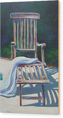 The Chair Wood Print by Shannon Grissom