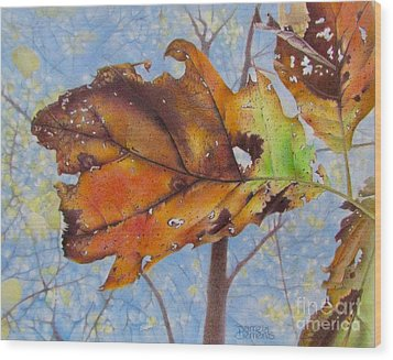 Changes Wood Print by Pamela Clements