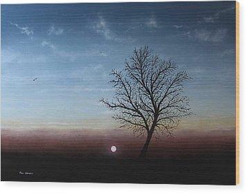 The Changing Season Wood Print by Paul Newcastle