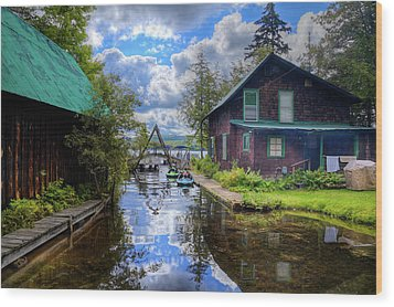 Wood Print featuring the photograph The Channel At Palmer Point by David Patterson