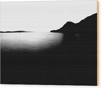 Wood Print featuring the photograph The Channel by Mark Alan Perry