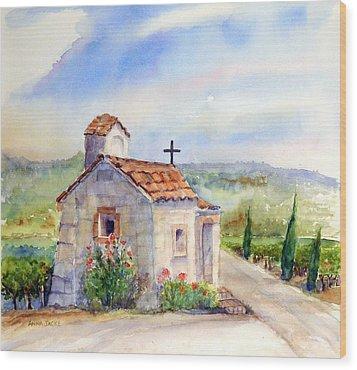 The Chapel - Castello Di Amorosa Wood Print