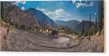 Wood Print featuring the photograph The Cheap Seats At Delphi by Micah Goff