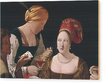 The Cheat With The Ace Of Diamonds Wood Print by Georges de la Tour