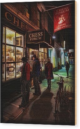The Chess Forum Wood Print by Lee Dos Santos
