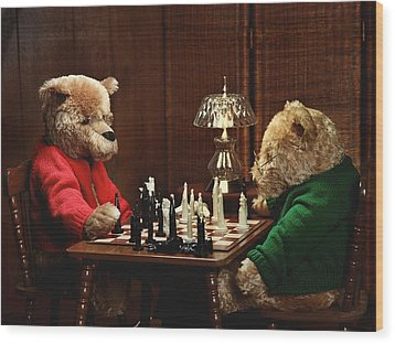 The Chess Game Wood Print