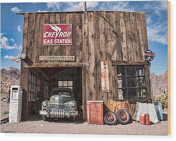 The Chevron Station  Wood Print