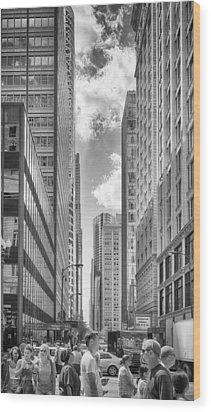 The Chicago Loop Wood Print by Howard Salmon