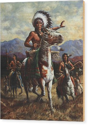 Wood Print featuring the painting The Chief by Harvie Brown