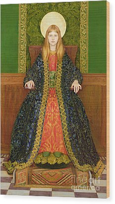 The Child Enthroned Wood Print by Thomas Cooper Gotch