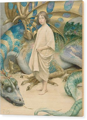 The Child In The World Wood Print by Thomas Cooper Gotch