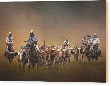The Chisolm Trail Wood Print by David and Carol Kelly