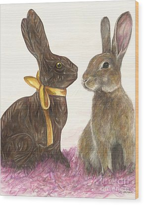 The Chocolate Imposter Wood Print by Meagan  Visser