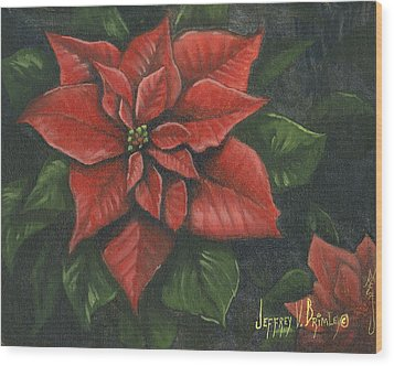 The Christmas Flower Wood Print