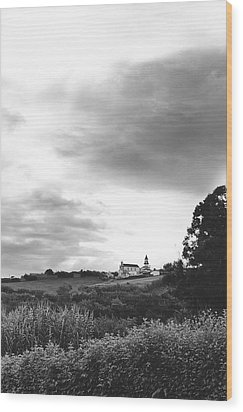 The Church At Salga Azores Portugal Wood Print by Henry Krauzyk