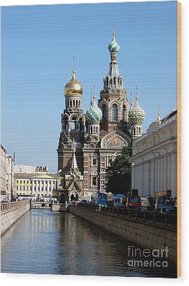 Wood Print featuring the photograph The Church Of The Spilled Blood by Robert D McBain