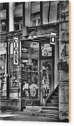 The Cigar Store Wood Print by David Patterson