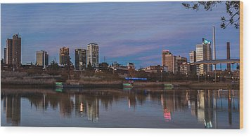The City At Sunset Wood Print by Phillip Burrow