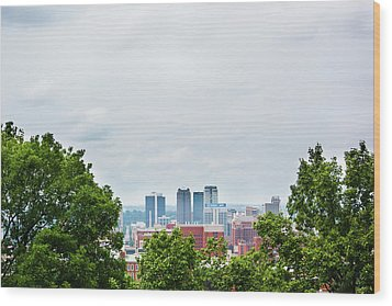 Wood Print featuring the photograph The City Beyond by Shelby Young