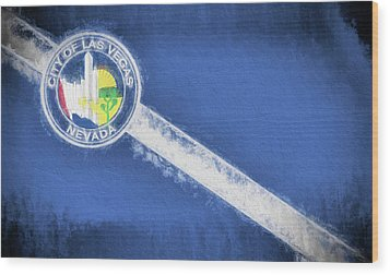 Wood Print featuring the digital art The City Flag Of Las Vegas by JC Findley