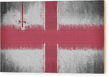 Wood Print featuring the digital art The City Flag Of London by JC Findley