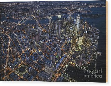 The City That Never Sleeps Wood Print by Roman Kurywczak