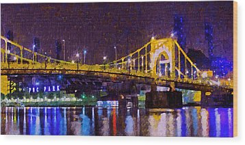 The Clemente Bridge Heading To The Northshore Wood Print