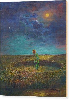 The Clock Of God Wood Print by Randy Burns