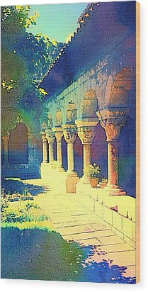 The Cloisters Wood Print