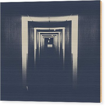 The Closed Doors Wood Print by Jerry Cordeiro
