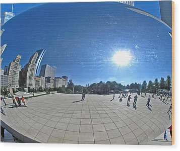 The Cloud Gate In Chicago Wood Print