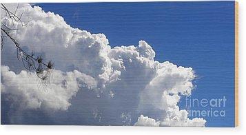 The Cloud Wood Print by Kaye Menner