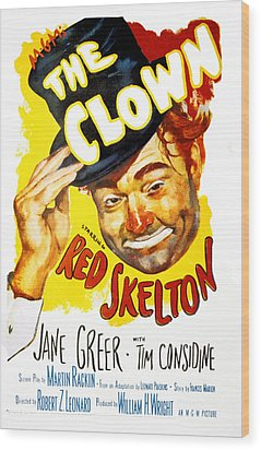 The Clown, Red Skelton, 1953 Wood Print by Everett