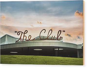 Wood Print featuring the photograph The Club Birmingham by Parker Cunningham