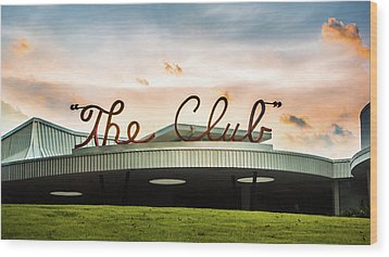 Wood Print featuring the photograph The Club Panorama by Parker Cunningham