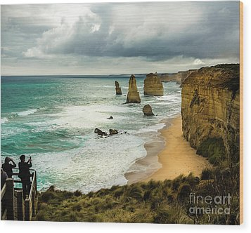 Wood Print featuring the photograph The Coast by Perry Webster