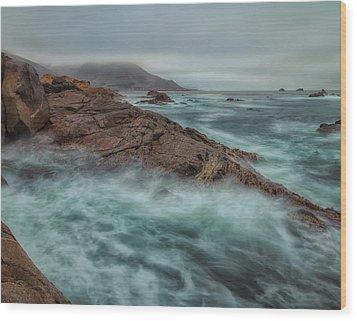 The Coastline Wood Print