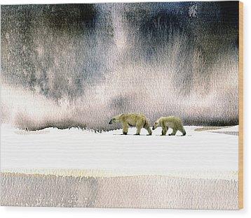 The Cold Walk Wood Print by Paul Sachtleben