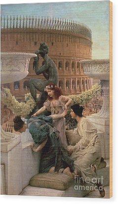 The Coliseum Wood Print by Sir Lawrence Alma-Tadema