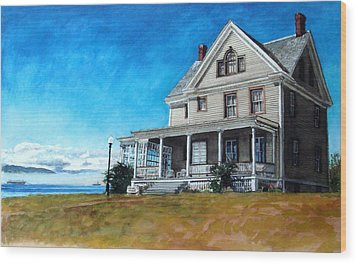The Colonel's House Wood Print by Perry Woodfin