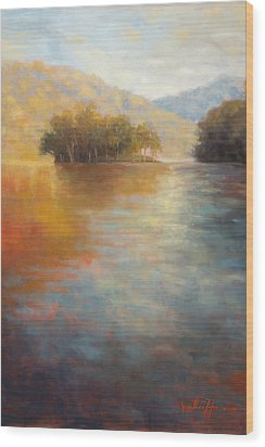 The Color Of Water Wood Print by Jonathan Howe