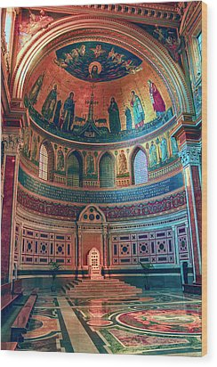 The Colorful Interior Of Roman Catholic Cathedral Wood Print