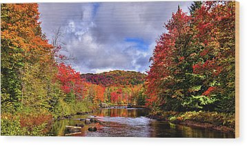 Wood Print featuring the photograph The Colors Of Fall On The Moose River by David Patterson