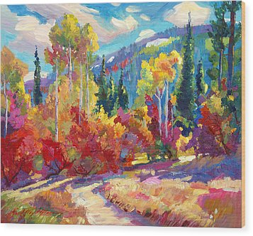 The Colors Of New Hampshire Wood Print by David Lloyd Glover