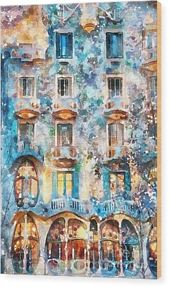 The Colors Of Spain Wood Print by Shirley Stalter